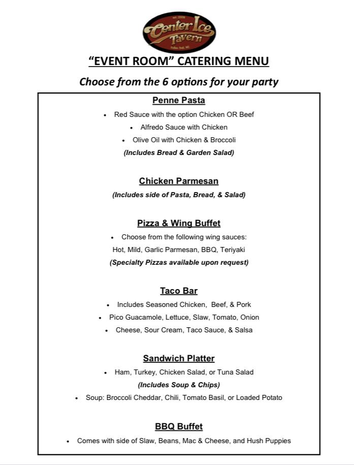 event-room-catering-menu