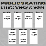 UPDATED Weekly  6/14-6/20 Public Skating
