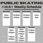 UPDATED Weekly Public Skating