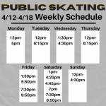 UPDATED Weekly  4/12-4/18 Public Skating